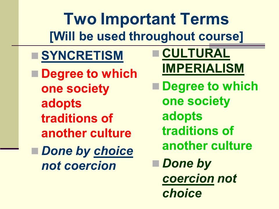Two Important Terms [Will be used throughout course]